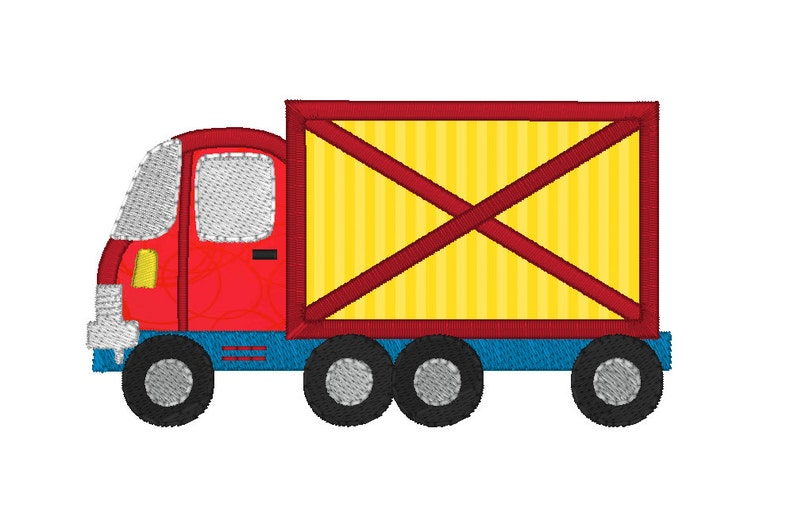 Truck Machine Embroidery Applique Design Lorry Boys Etsy