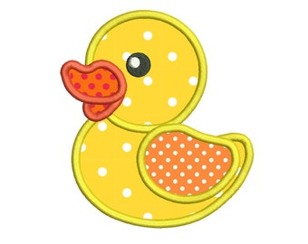 Rubber Ducky Machine Embroidery Applique Design, Bath Toy, Cute Rubber Duck Design, Sweet Ducky, 3 Sizes, Instant Download, No: SA531-4