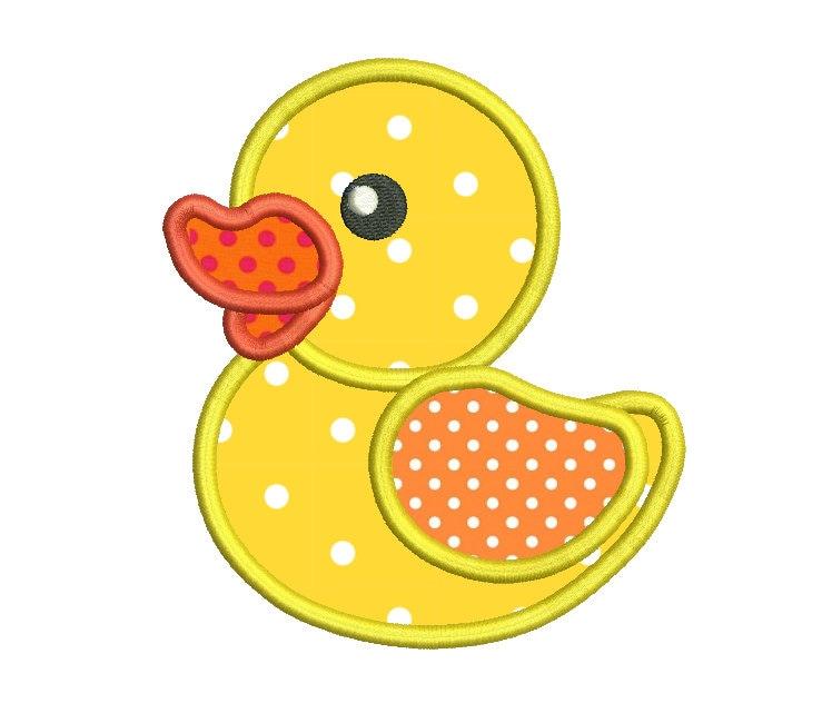 Rubber Ducky Machine Embroidery Applique Design Bath Toy | Etsy