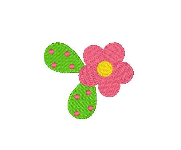 Floral Machine Embroidery Design Fill Stitch Flower Small Flower