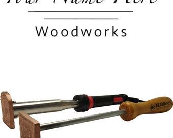 """BN-104 """"Woodworks"""" Flame or Electric Branding Iron"""