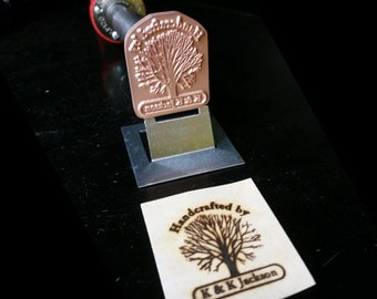 """BN-117 """"Family Tree"""" Flame Heated or Electric Personalized Branding Iron"""