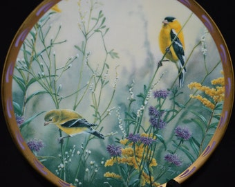 Lenox / collectible plate / Nature's Collage Collection / Golden Splendor / nature / birds / fine china /  home decor / decorative plate