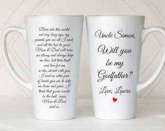 Will you be my Godfather, Asking Godfather, Godfather invitation, Godfather to be, Ask Godfather, Godfather mug, Godfather gift, Baptism