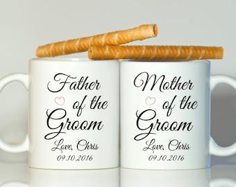 Parents of the groom gift, Parents of the groom mug, Father of the groom gift, Mother of the groom gift, Gift from groom, Groom parents gift