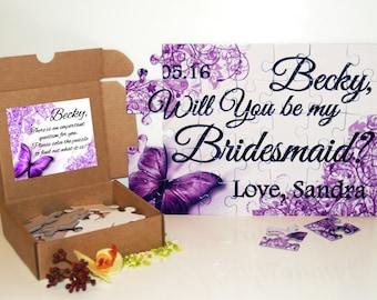 Will you be my bridesmaid puzzle, Bridesmaid invitation, Bridesmaid proposal, Asking bridesmaid, Maid of Honor puzzle, Matron of Honor