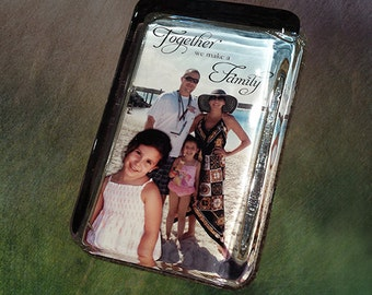 Custom Glass Paperweight, Your Photo Displayed in a Handcrafted Glass Paperweight, Gift for Him or Her, Home Decor, Personalized Gift