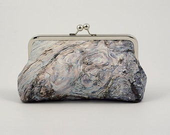 Clutch Bag - Abstract Design - Original Photograph Printed on Dupion Silk - Clutch Bag Lining Can be Personalized with Your Photo or Text