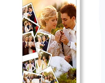 Custom Wedding Photo Collage - Unique 16x24 Photo Collage on Canvas - Collage Using 9 of Your Favorite Photos - Custom Art - Made in USA