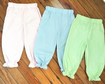 Ruffled Gingham Pants, ruffle pants, gingham pants, fall toddler pants