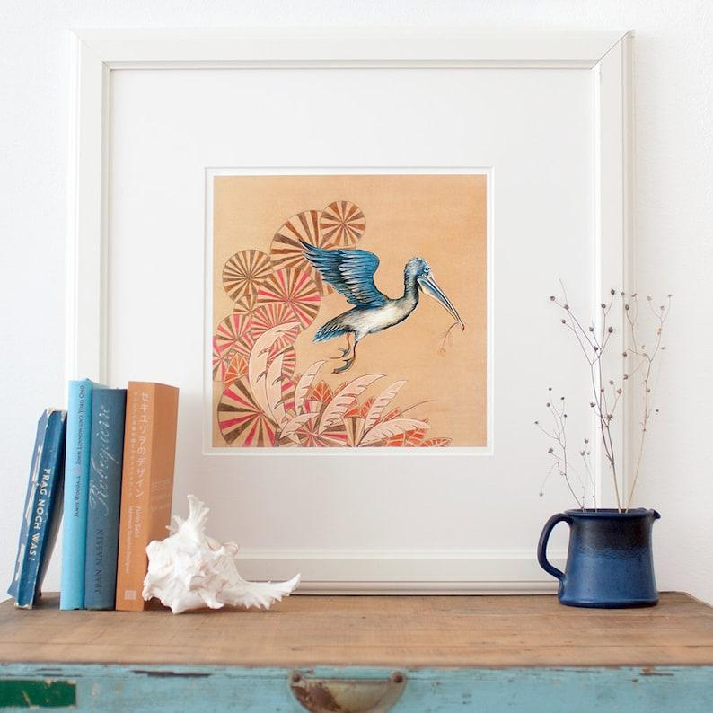 Pelican Poster Fine Art Print pretty illustration of flying image 0