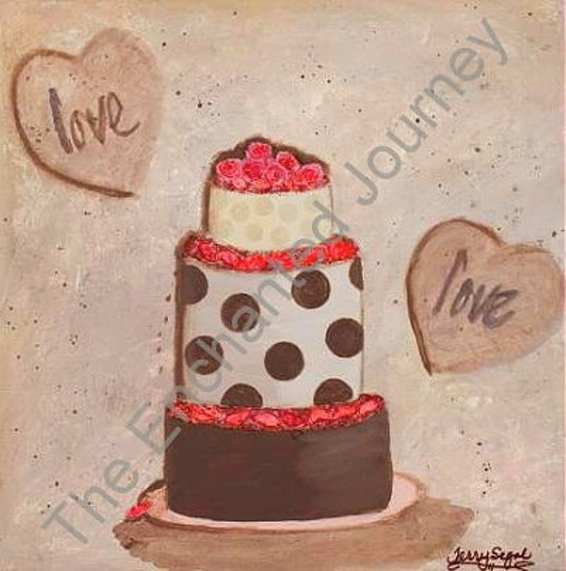 Love Cake Mixed Media for All Occasions S&H INCLUDED image 0