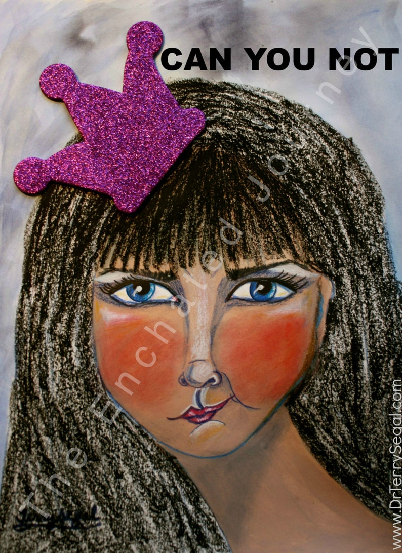 Can You Not woman with crooked crown angry blue eyes image 0