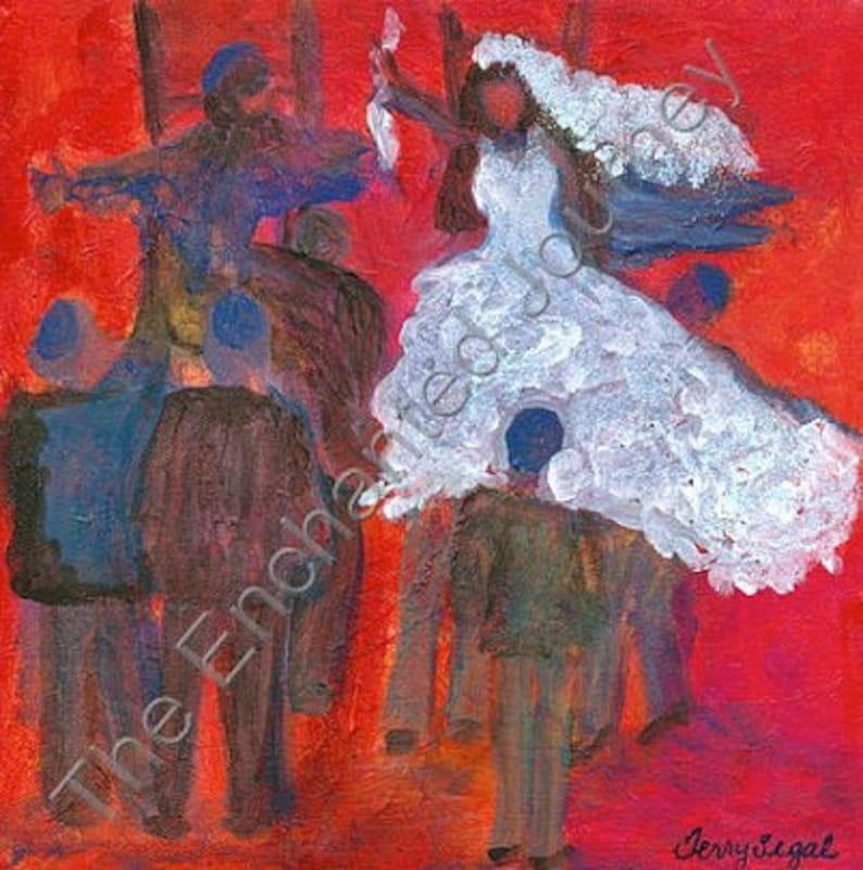 Wedding Jewish wedding handkerchief bride groom lifted up image 0