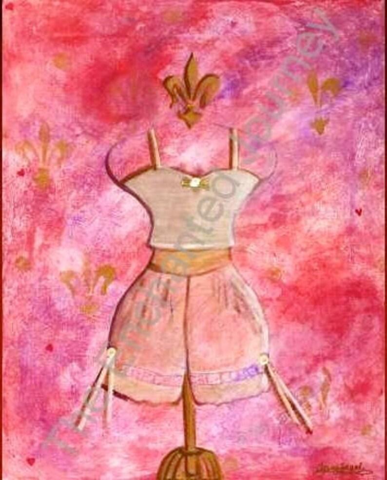 Dressform Pink lace bloomers bride feminine fleur de lis image 0
