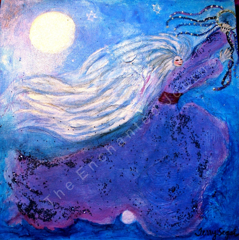 Miriam With Her Timbrel woman dancing in moonlight with image 0