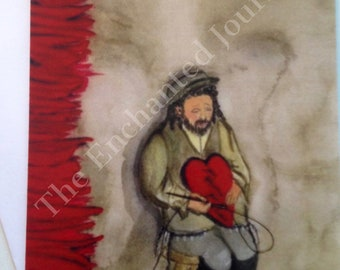 Father's Day card, Jewish Father, Dad, Hearts, Tailor,