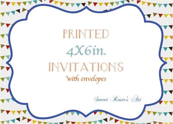invitation printing service printed 4x6 invitations etsy