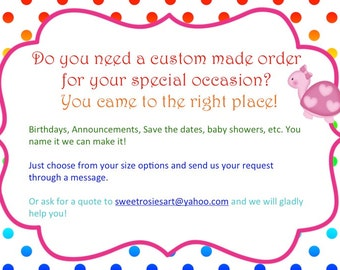 Custom made invitations listings/ digital only
