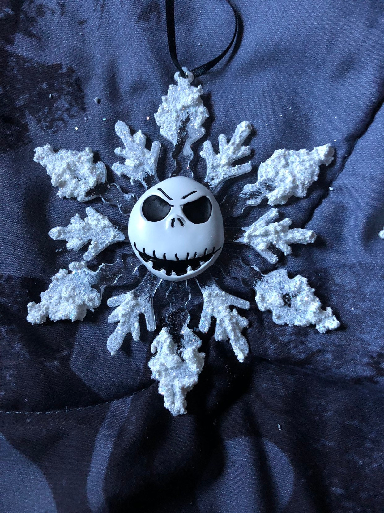 Nightmare before Christmas Jack Skellington Face Snowflake | Etsy
