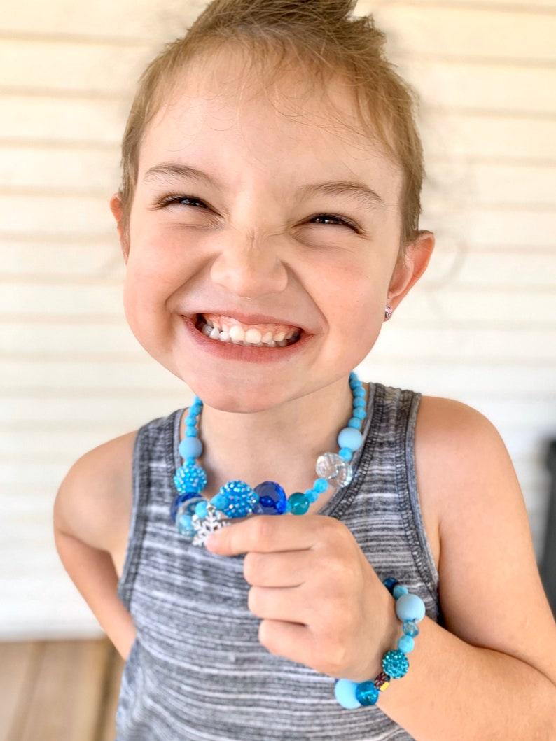 FROZEN SET Elsa inspired Bracelet Necklace set