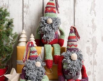 Christmas elves knitting kit. Christmas knit kit. Intermediate knitting kit. Pattern by Wool Couture