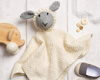 Baby Comforter Knitting Kit. Baby Toy Knit Kit. Easy Level Knit Kit.  Craft Kit Made By Wool Couture.  Presented in a Gift Box.
