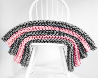 Bodhi Blanket Knitting Kit.  Perfect for Beginners to Knitting. Learn to Knit With Wool Couture. Knitting Needles Optional