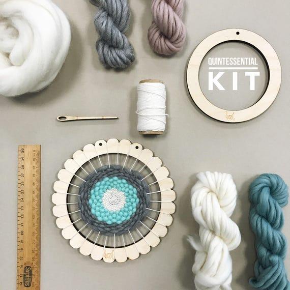 Circular Weaving Loom Kit. Small lap loom. Learn to frame | Etsy