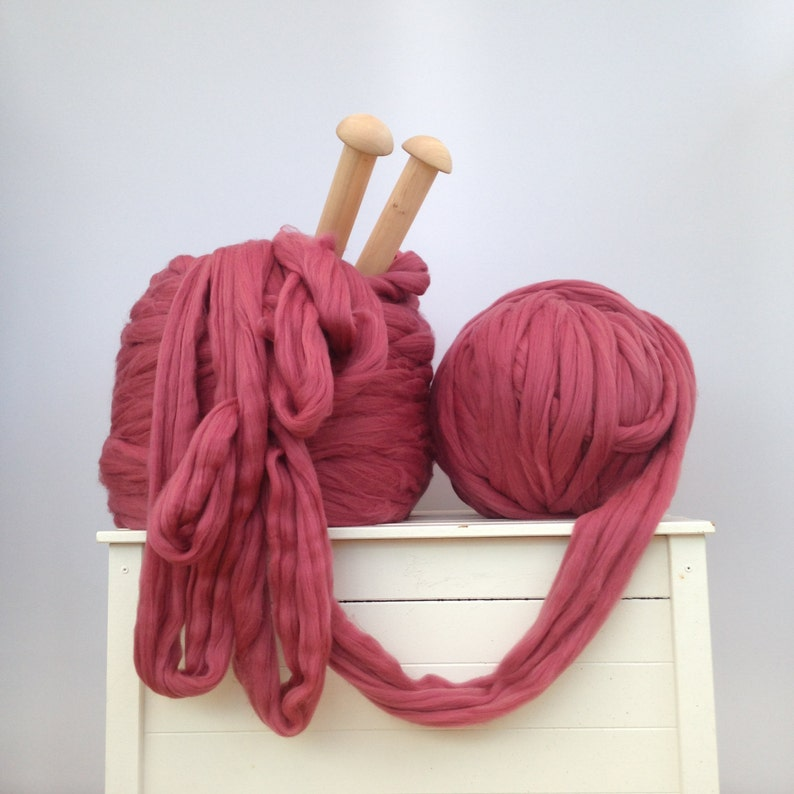 Big giant yarn. Merino bulky EPIC EXTREME arm knitting kit image 0