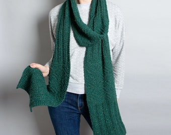 Garden Scarf Knitting Kit. Intermediate Knitting Kit. Winter Wrap Craft Kit. Supplied in a Branded Tote by Wool Couture.