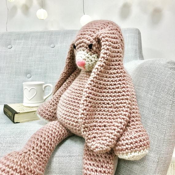 Große Amigurumi Häkeln Kit Mabel Bunny Häkeln Muster Etsy