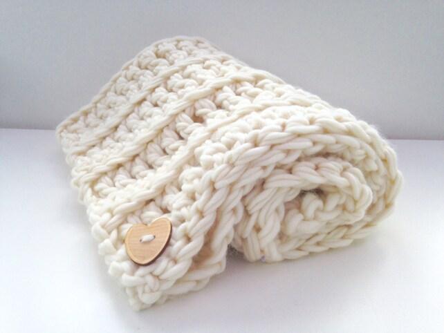 Beginners crochet kit luxury baby blanket. DIY learn to | Etsy