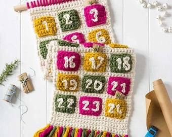 Advent Calendar Crochet Kit. Advent Calendar For Life Giant Crochet Kit. Christmas Advent Calendar. Easy crochet pattern by Wool Couture