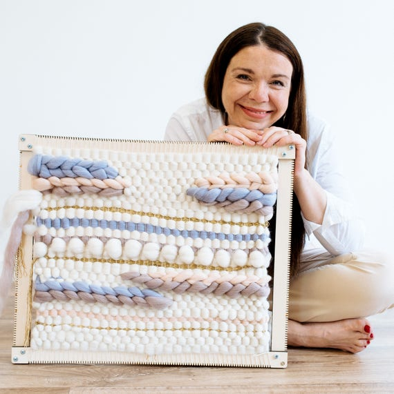 Weaving Loom Kit. Giant Woolly Mammoth Loom. Learn to frame | Etsy