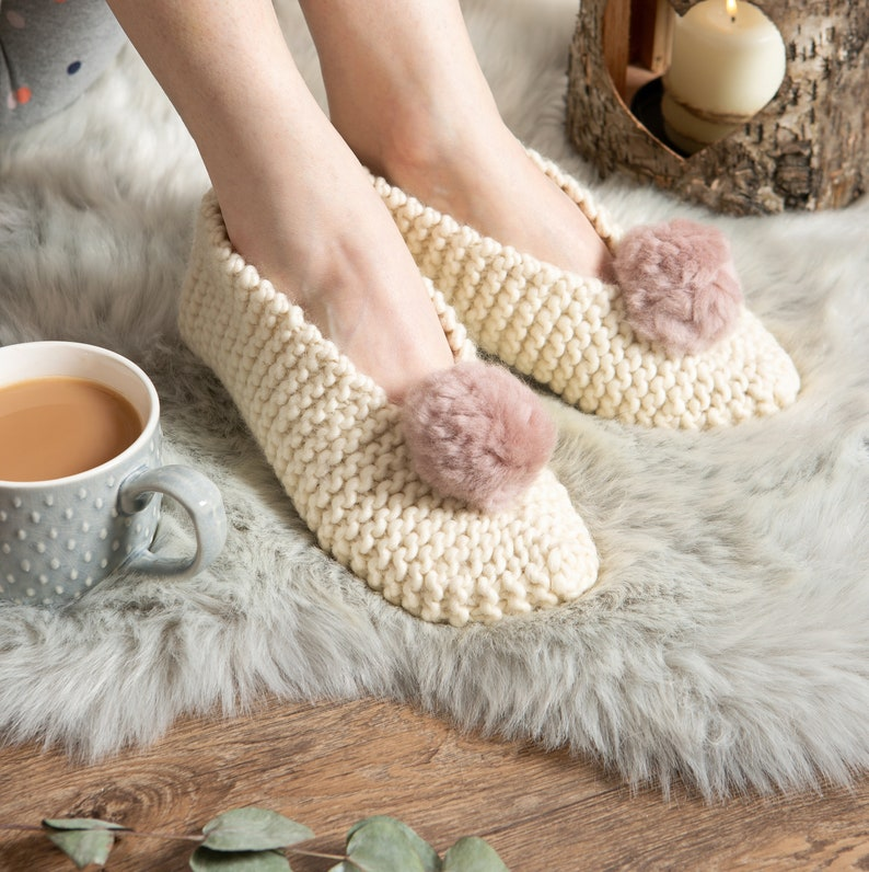 Slipper Knitting Kit. Make your own Mary Jane Slippers with a image 0