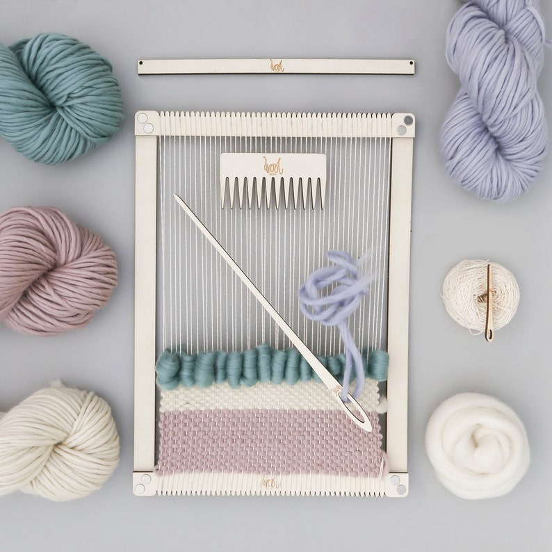 Weaving Loom Kit.  Large lap loom.  Learn to frame weave image 0
