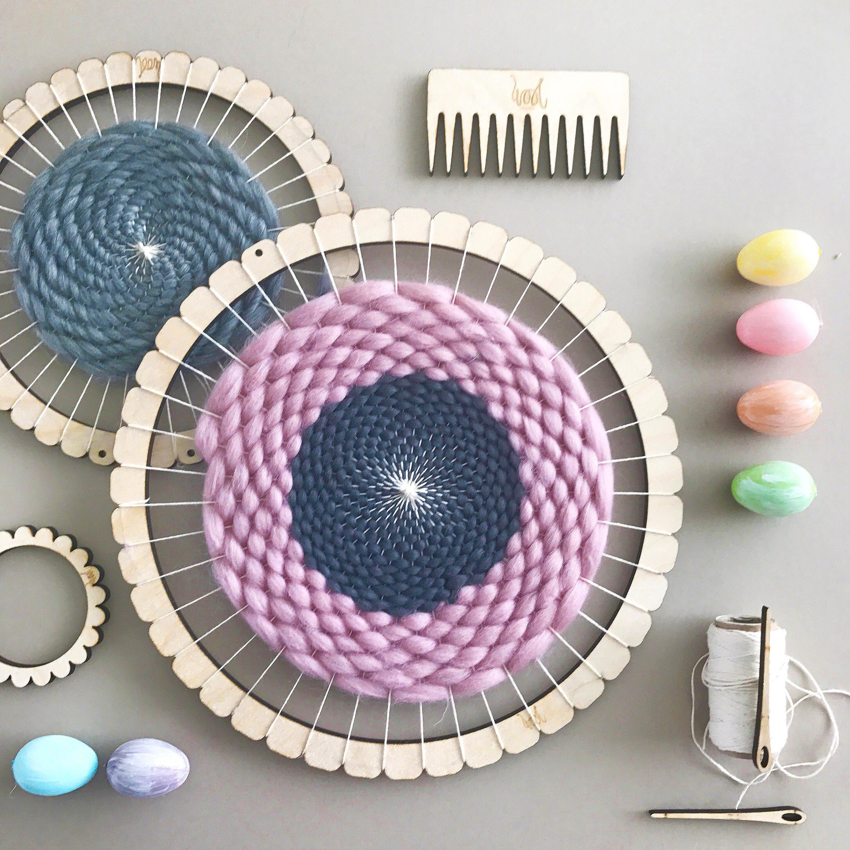 Kit de telar de tejer circular. Telar de media vuelta. Aprender a ...