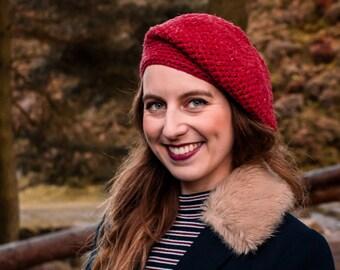 Cranberry Hat Crochet Kit. Hat Crochet Kit. Easy Crochet Kit. Pattern by Wool Couture