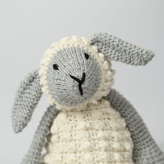 Amigurumi sheep Animal knitting kit Knitting pattern Intermediate knitting kit Baby shower gift Hand knitting Lionel Lamb Knitting Kit