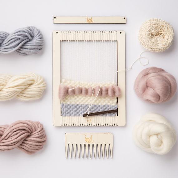 Weaving Loom Kit. Small rectangular lap loom. Learn to frame | Etsy