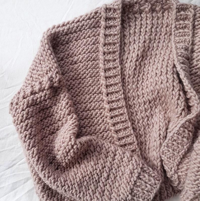 Bomber Cardigan PDF Knitting Pattern. Easy Jumper Knit Kit ...