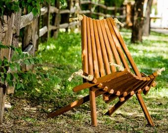 African Mahogany PioneerChair/Wooden Folding Chair/wood/Patio/Rustic/Folding Chair/Chair/Patented/Living Room/belize/folding/deck/Adirondack