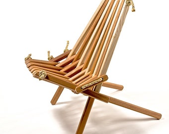Ash Combination Pioneer Chair/Patio/Deck/Dock/Wood/Folding/Rope/ Chair/Porch/Chair/Furniture/Chic/Adirondack/Belize/Indoor/Outdoor