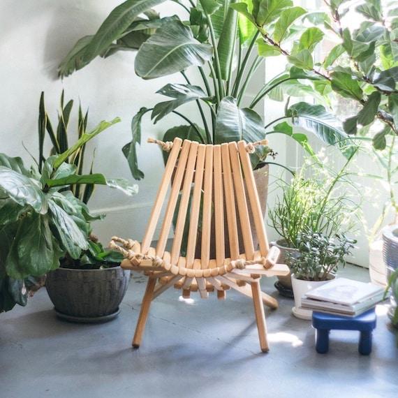 Pine Chair/ Folding Chair/Portable Chair/Decorative | Etsy
