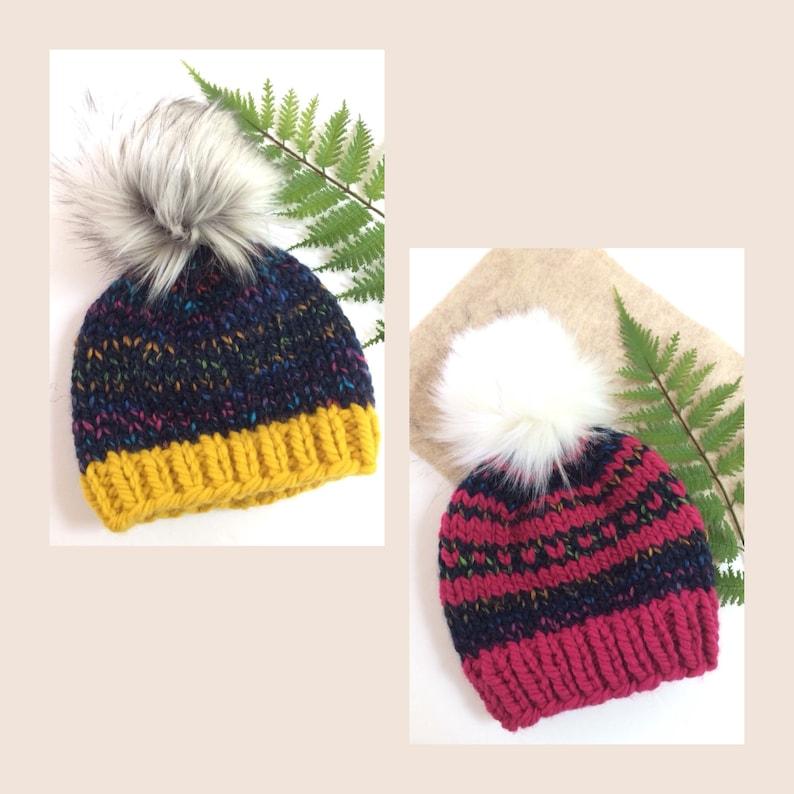 c1e4bf8bfad Chunky Knit Toddler Hat 1-3 yrs    Knit Child Hat 3-5 yrs