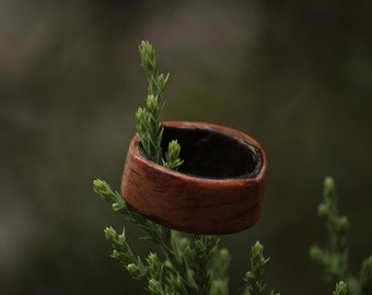 Handmade Redwood and Ebony Bentwood Ring - Made to Order