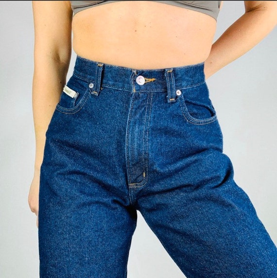 Vtg 70's High Waisted Mom Jeans Size 26 in waist