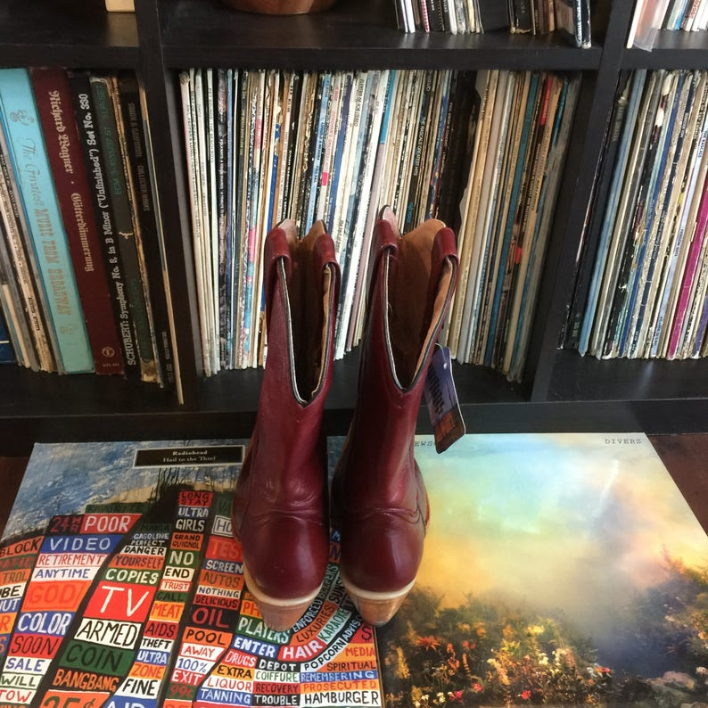 ed8356ebce0 Deadstock 70's Boots; Women's Vintage Burgundy/Oxblood Heeled Cowgirl  Boots; Originally Retail for 189.00! Size 6/6.5 Made In Mexico