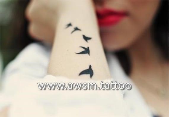 Produkty Podobne Do Flying Birds Tatuaż Tatuaż Ptaka